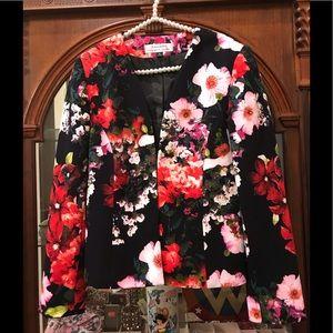 Tahari Floral Blazer